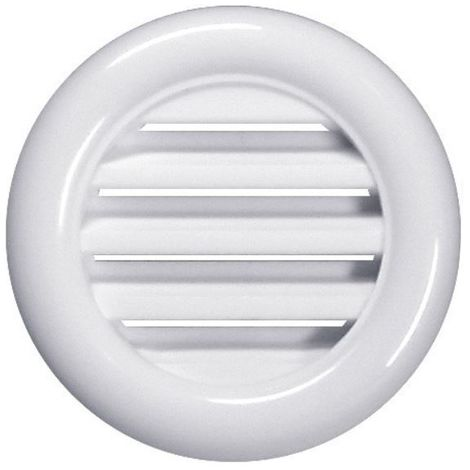 White Round Joinery Door Air Vent Grille Woodwork Furniture 40mm Diameter Hole