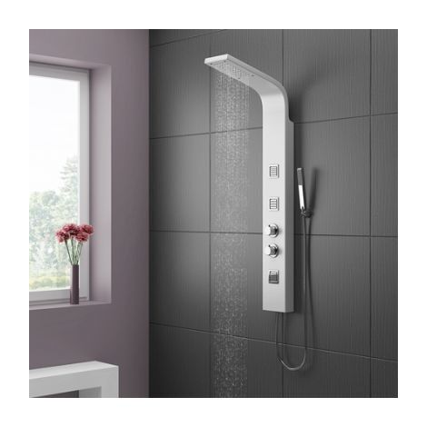 White Shower Tower - Storm by Voda Design