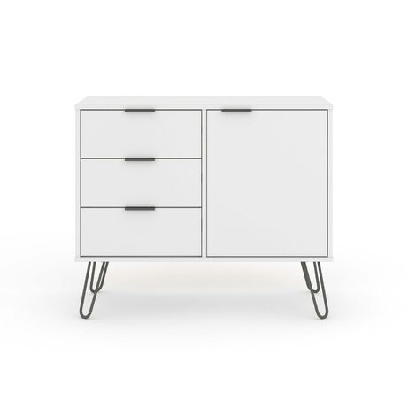 """main image of """"White Sideboard Cupboard With 1 Doors, 3 Drawers Living Room Storage Furniture"""""""