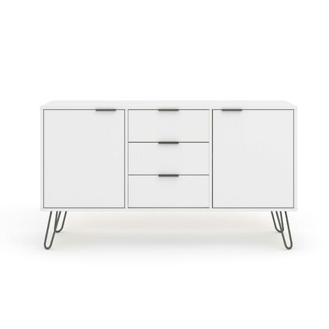 """main image of """"White Sideboard Cupboard With 2 Doors, 3 Drawers Living Room Storage Furniture"""""""