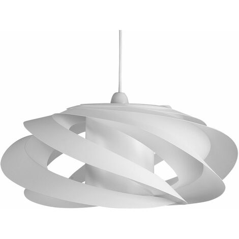 White Spiral Ceiling Pendant Light Shade
