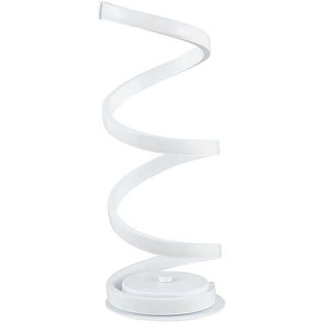 White Spiral Table Lamp