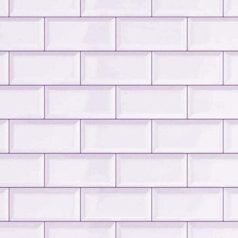 White Subway Tile Tile Brick 3D Effect Wallpaper D-C-Fix Bathroom Kitchen Vinyl