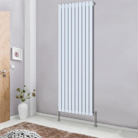 White Vertical Designer Radiator 1800x680 Single Flat Column Panel Central Heating Rads