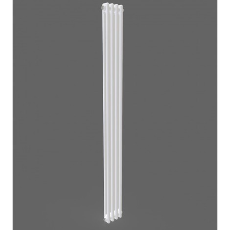 White Vertical Double Column Traditional Radiator