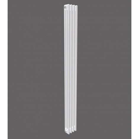 White Vertical Triple Column Traditional Radiator