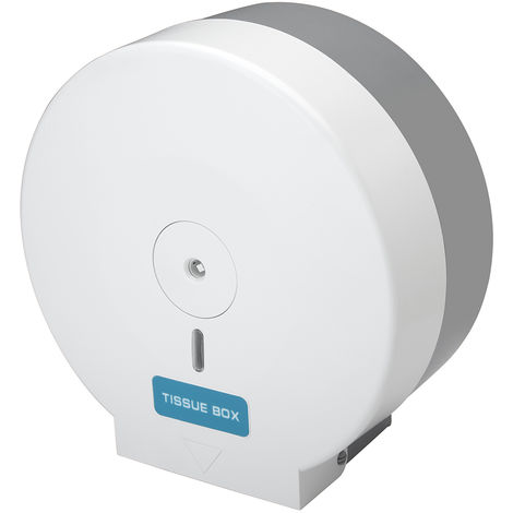 White Wall Mounted Toilet Roll Holder for Commercial Toilet Cubicles