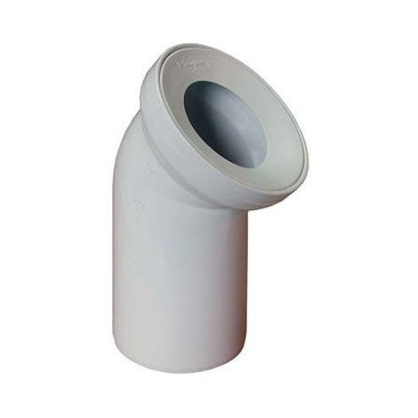 White WC Toilet Waste Water Pan Connector Soil Pipe 110mm 45 degree Elbow