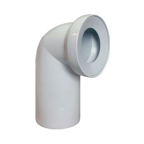 White WC Toilet Waste Water Pan Connector Soil Pipe 110mm 90 degree Elbow