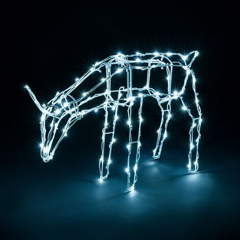 """main image of """"White Wire Light Up Reindeers"""""""