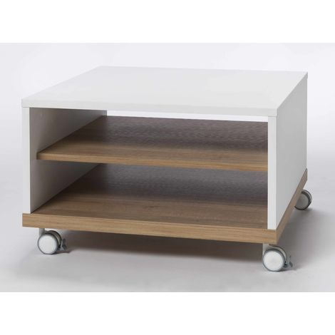 White wood Coffee Cocktail Table For Living Room and Bedroom Ludo