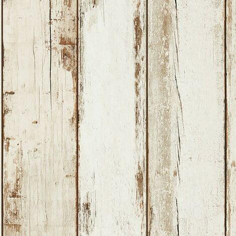 White Wood Effect Wallpaper AS Creation Rustic Panel Paste The Wall Vinyl