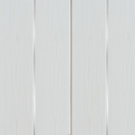 White Wood Matt Silver Strip Wall & Ceiling Panels 200x2700x6mm Pack 5