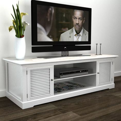 White Wooden TV Stand VD08723