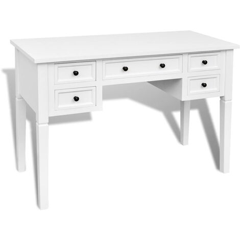 """main image of """"vidaXL Writing Desk with 5 Drawers 109.5x45x77.5 cm Wood Computer Desk Laptop Table Office Living Room Home Furniture Multi Colours"""""""