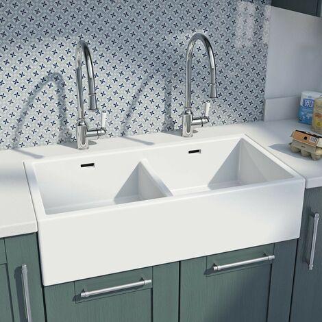 Whitebirk Sink Co. Ribbleton double ceramic sink