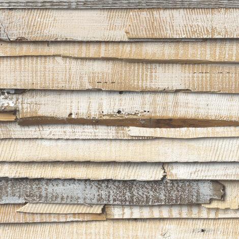 Whitewashed Wood Photo murale - 368 x 254 cm