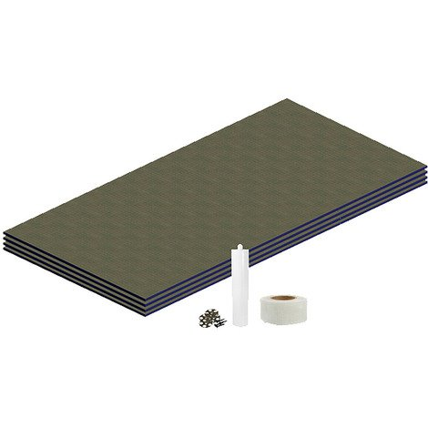 WholeSeal Wetroom 10mm Tile Backer Board 2.88m² Floor Kit