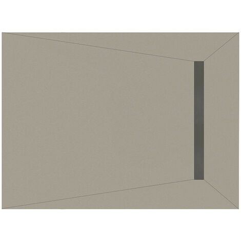 WholeSeal Wetroom 1200mm x 900mm x 30mm Rectangular Shower Tray Former with End 600mm Linear Waste Outlet