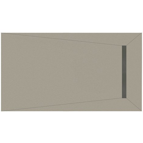 WholeSeal Wetroom 1600mm x 900mm x 30mm Rectangular Shower Tray Former with End 600mm Linear Waste Outlet