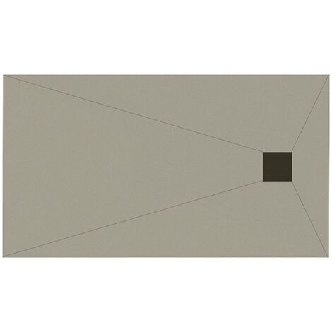 WholeSeal Wetroom 1600mm x 900mm x 30mm Rectangular Shower Tray Former with End Square Waste Outlet