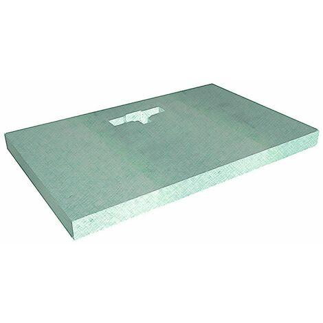 WholeSeal Wetroom 1600mm x 900mm x 90mm Rectangular Shower Substrate with Offset Linear Waste Outlet