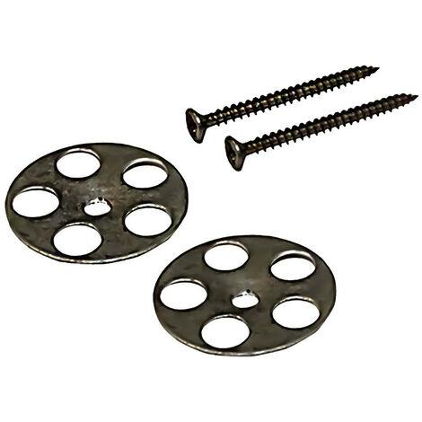 WholeSeal Wetroom 25mm Screws & 35mm Floor Washers 50 Pack