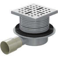 WholeSeal Wetroom Square Screw Lock Shower Waste