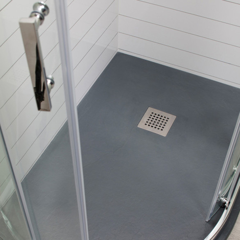 Wholestone Slate Left Hand 1200mm x 800mm Anthracite Offset Quadrant Shower Tray