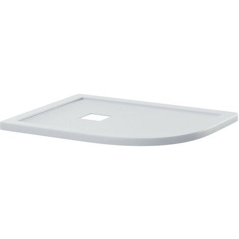 "main image of ""Wholestone Slate White 1200mm x 800mm Right Hand Offset Quadrant Shower Tray"""