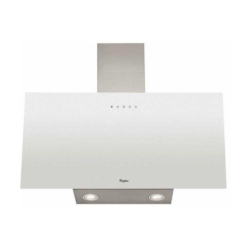 WHIRLPOOL WHVP63LTW Hotte a visiere - Evacuation et recyclage - 625 m3 air / h max - 60 dB max - 3 vitesses - L 60 cm - Blanc