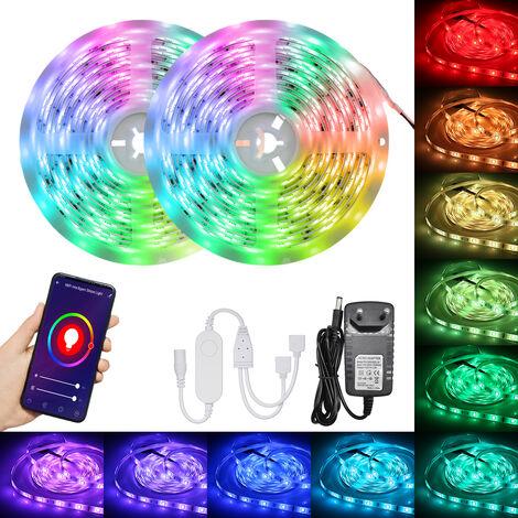 Wi-Fi inteligentes LED luces de tiras 10m 300LEDs 5050RGB cambio de color de la cuerda ligero IP65 resistente al agua, 2 #