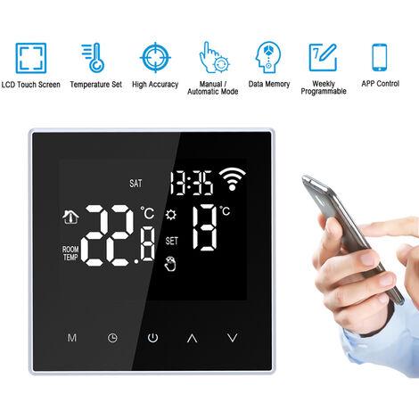 Wi-Fi-Smart-Thermostat Digital-Temperaturregler APP Steuerung Weekly Circulation Programmierbarer Elektro-Fu?bodenheizung mit gro?em LCD-Schirm fur Home School Buro Hotel 16A