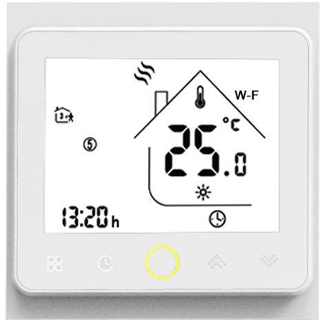 Wi-Fi termostato inteligente controlador de temperatura, control de APP, 5A,Blanco