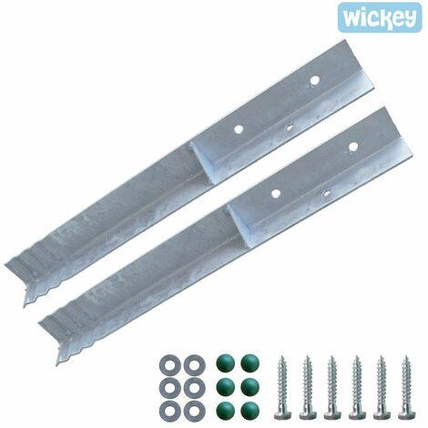 WICKEY Anclaje en angulo / fijacion para postes (Set de 2 unidades)