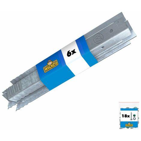 WICKEY Anclaje en angulo / fijacion para postes (Set de 6 unidades)