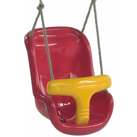 WICKEY Baby Swing Seat (two-part) in red-yellow