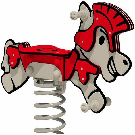 """WICKEY Balancín muelle PRO caballo """"Rumbley"""" - Certificado según EN 1176 - Para parques infantiles públicos y campings"""