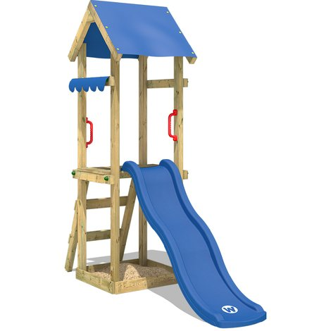 WICKEY Climbing frame TinySpot with slide and sandpit