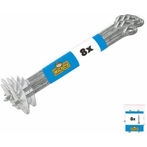 """main image of """"WICKEY Ground anchor set QuickLock 8 pieces for climbing frame, anchor for play tower & garden fence"""""""