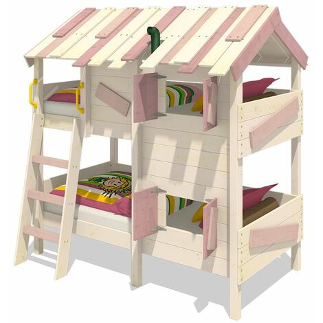 WICKEY Kid�s bed, bunk bed CrAzY Creek - canvas cover loft bed 90 x 200 cm