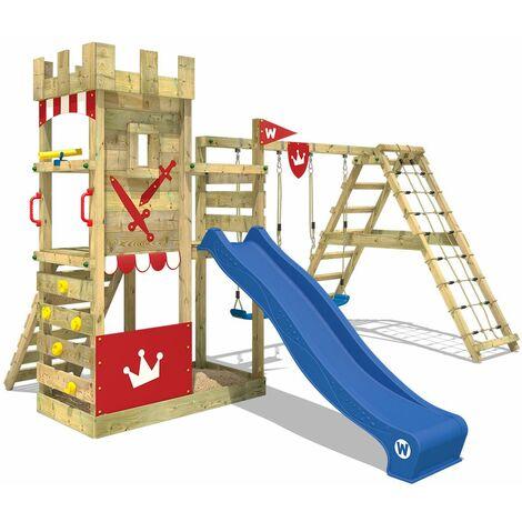 WICKEY Parque infantil Smart Crown Torre juegos con tobogán y columpios