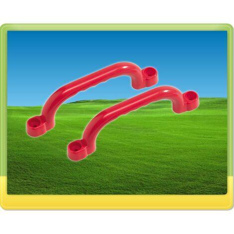 WICKEY Poignées en plastique rouge pour aire de jeux, portique balançoire & cabane enfant
