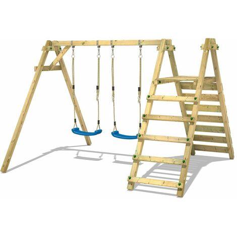 WICKEY Portique balançoire Aire de jeux Smart Up avec Portique bois pour enfants