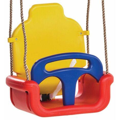 WICKEY Siège de balançoire évolutif pour bébés (3 en 1) pour aire de jeux, portique balançoire & cabane enfant