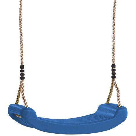 WICKEY Siège de balançoire pour enfants – bleu