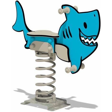 "WICKEY Spring rocker PRO Shark ""Charley"" - Developed according to EN 1176 standards - for commercial playgrounds and campsites"