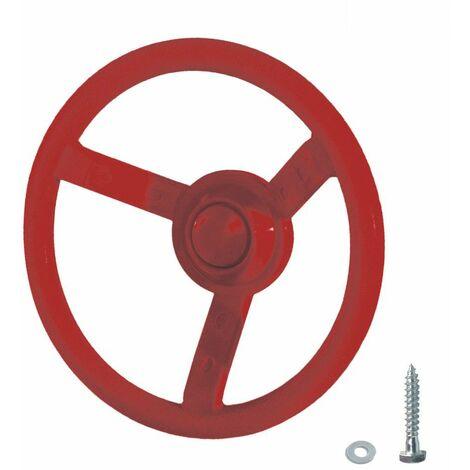 WICKEY Volant rouge pour aire de jeux, portique balançoire & cabane enfant