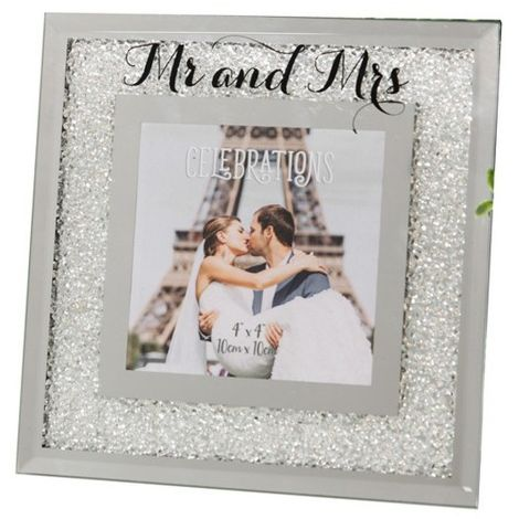 Widdop Celebrations Crystal Border Mr And Mrs Photo Frame