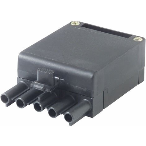 Wieland 93.732.4553.0 5 Pin Male Compact Connector with Strain Relief Black